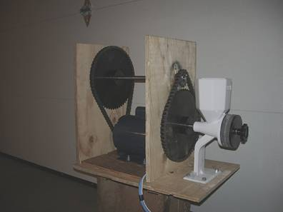 Motorized Grain Mill - Chains hooked up