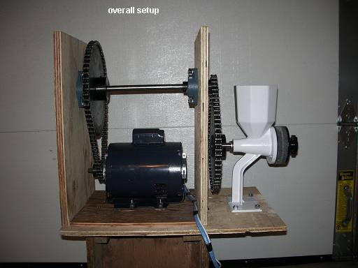 Motorized Grain Mill - Overall setup
