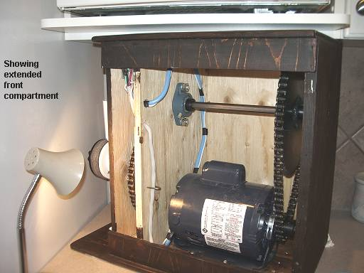 Motorized Grain Mill - Showing extended front compartment