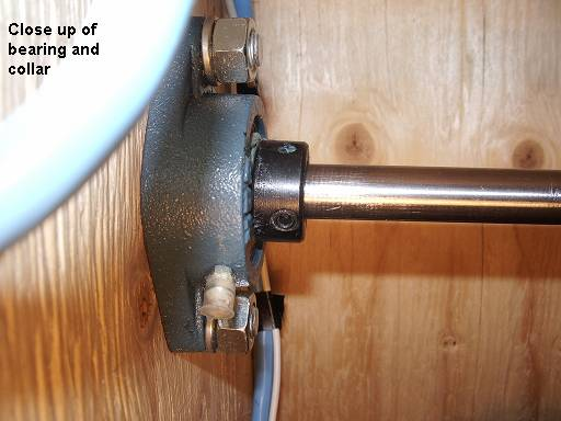 Motorized Grain Mill - Close up of bearing and collar