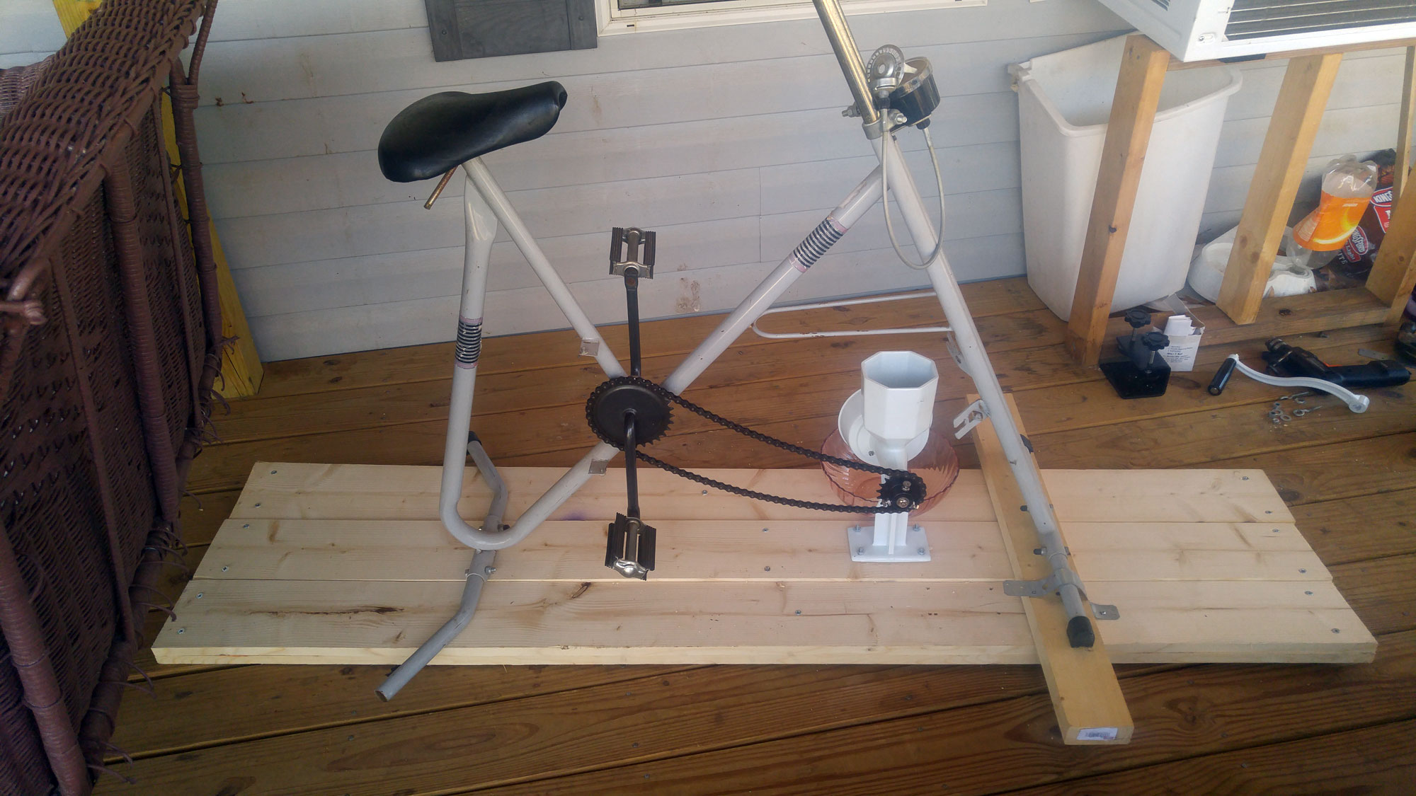 Hand Grain Mill with Bike Sprocket